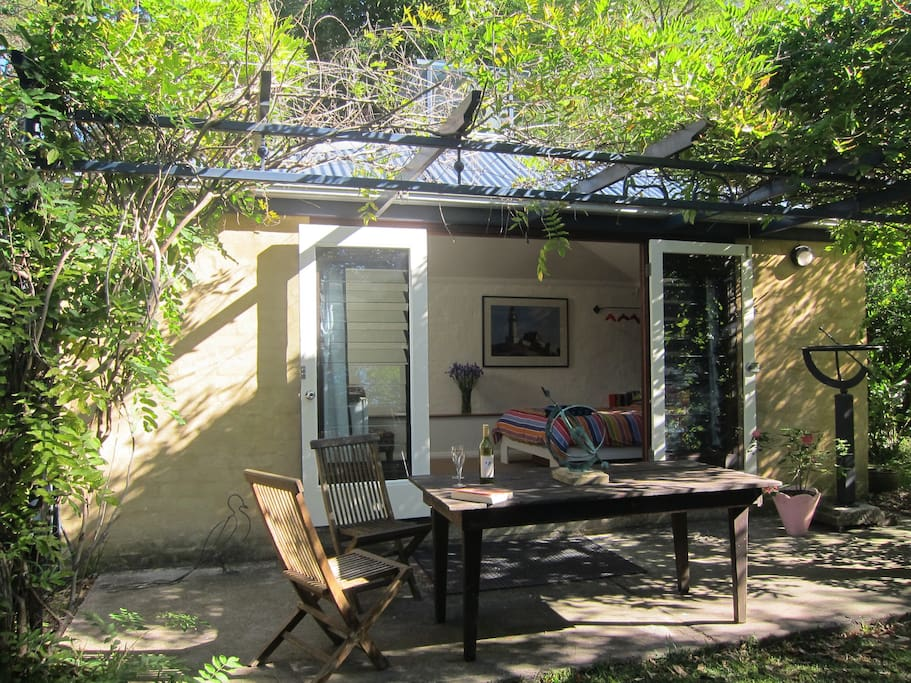 Exterior showing outdoor table and chairs