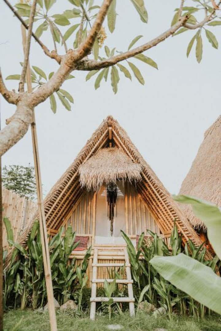 Bamboo hut  reconnect with nature
