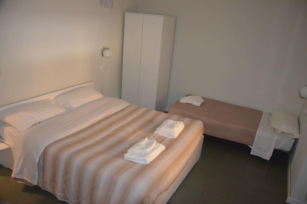 stanza doppia con il terzo letto