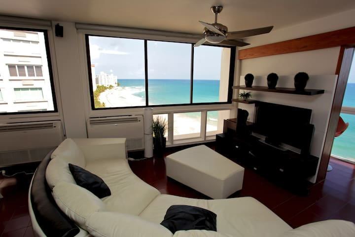 Beachfront 3 Bedroom Apt. - Condado - San Juan - Daire