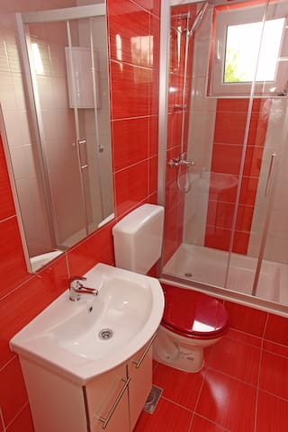 own bathroom in room
