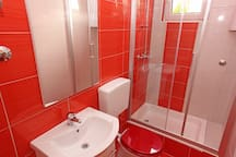 nice and new bathroom.
