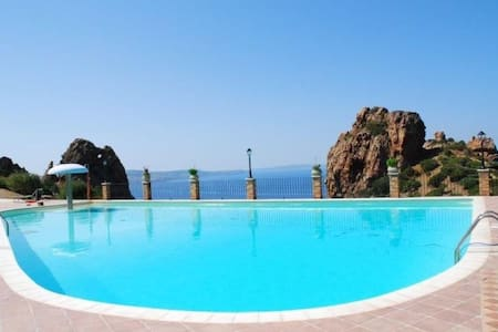 Sardinya lovely villa 4 beds - Nebida
