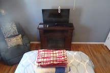 In room fireplace, Smart TV, WiFi access