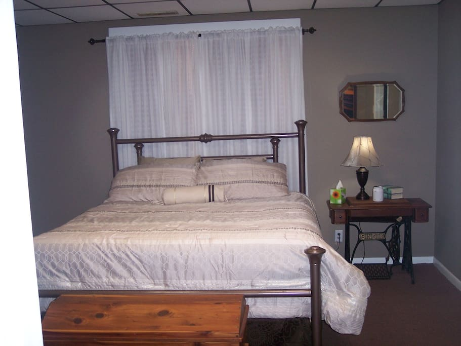 King size pillow top beauty rest bed.