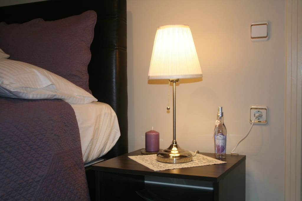 Bedroom #1 Levander Body Mist, Candle and Reading Light is New!