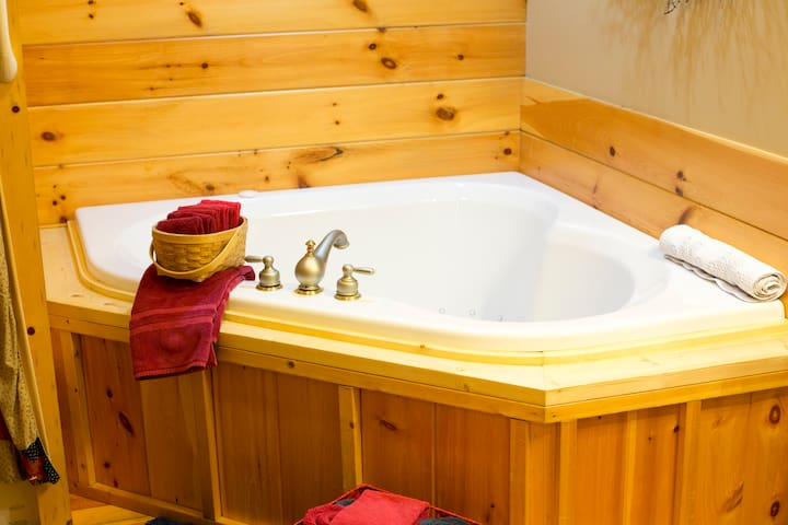 2-Bed 2-Bath Lodge w/ Fireplace, Full Kitchen & Jacuzzi