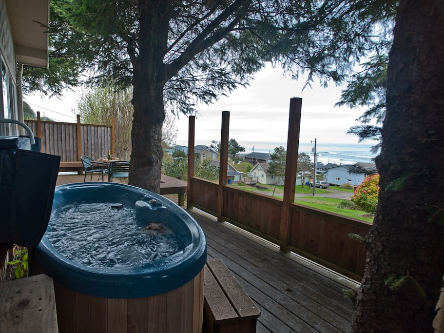 """After our 8 mile walk on the beach, we were happy to have the hot tub when we got back. "" Dan"