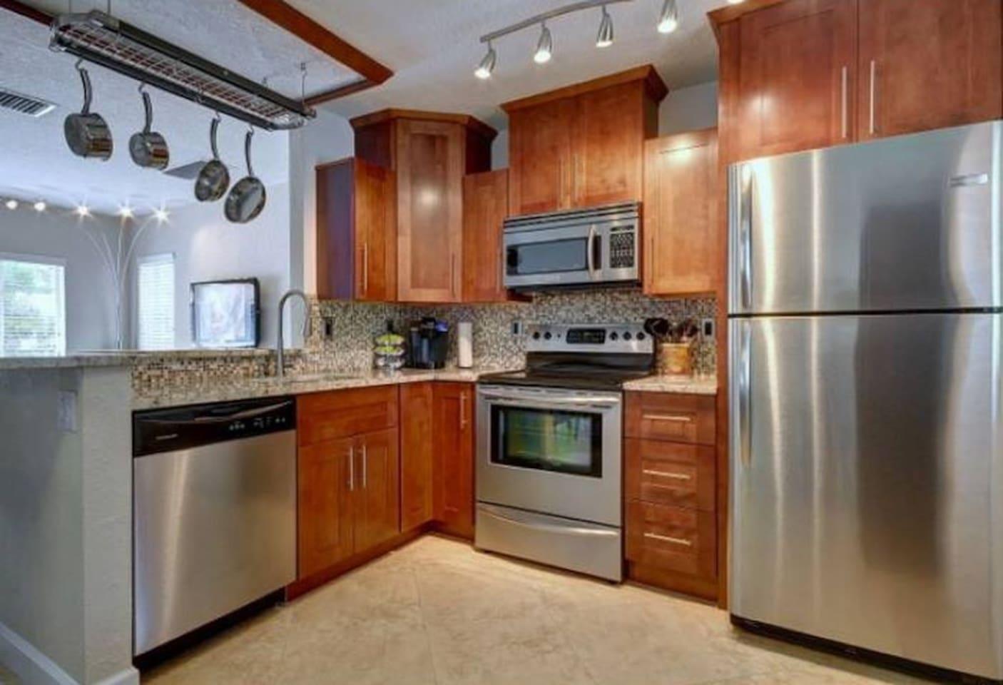 Modern Stainless Steel Kitchen Appliances