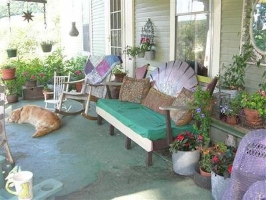 The front porch is a wonderfully relaxing place to spend a summer afternoon.