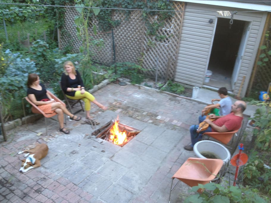 Garden Patio and Fire Pit