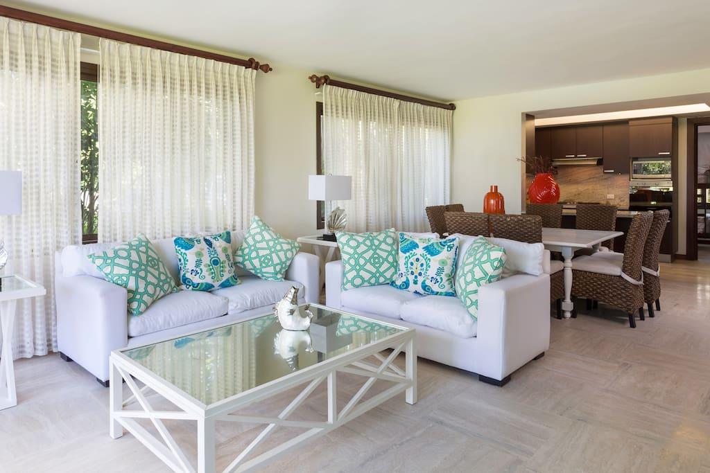 Our elegant living room.