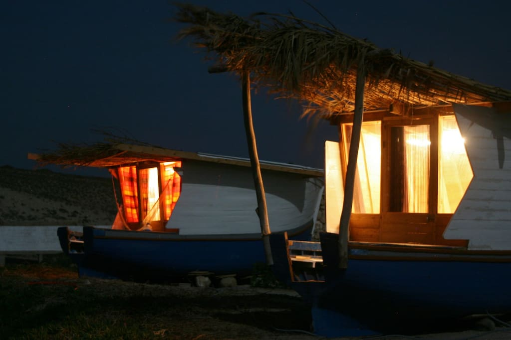 boats by night under the stars