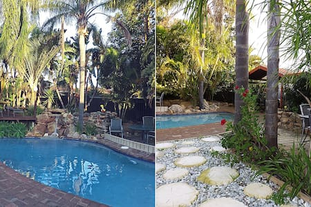 Queen room with tranquil pool and garden setting. - Wanneroo - House