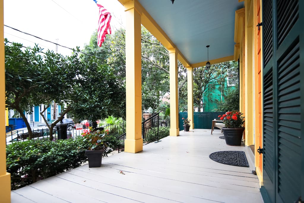 Quintessential New Orleans front porch