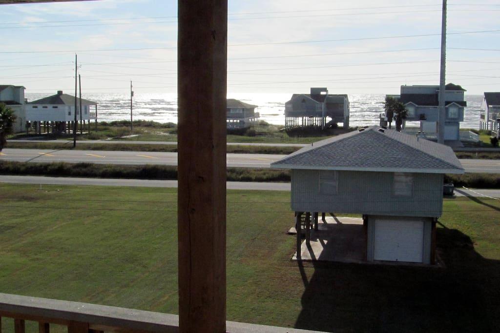 Ocean view from master bedroom deck.