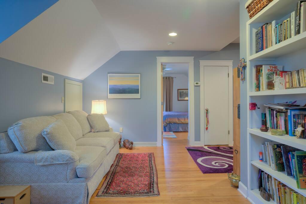 Loft looking towards guest suite