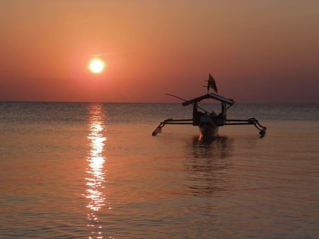 sunset in Liang Kareta