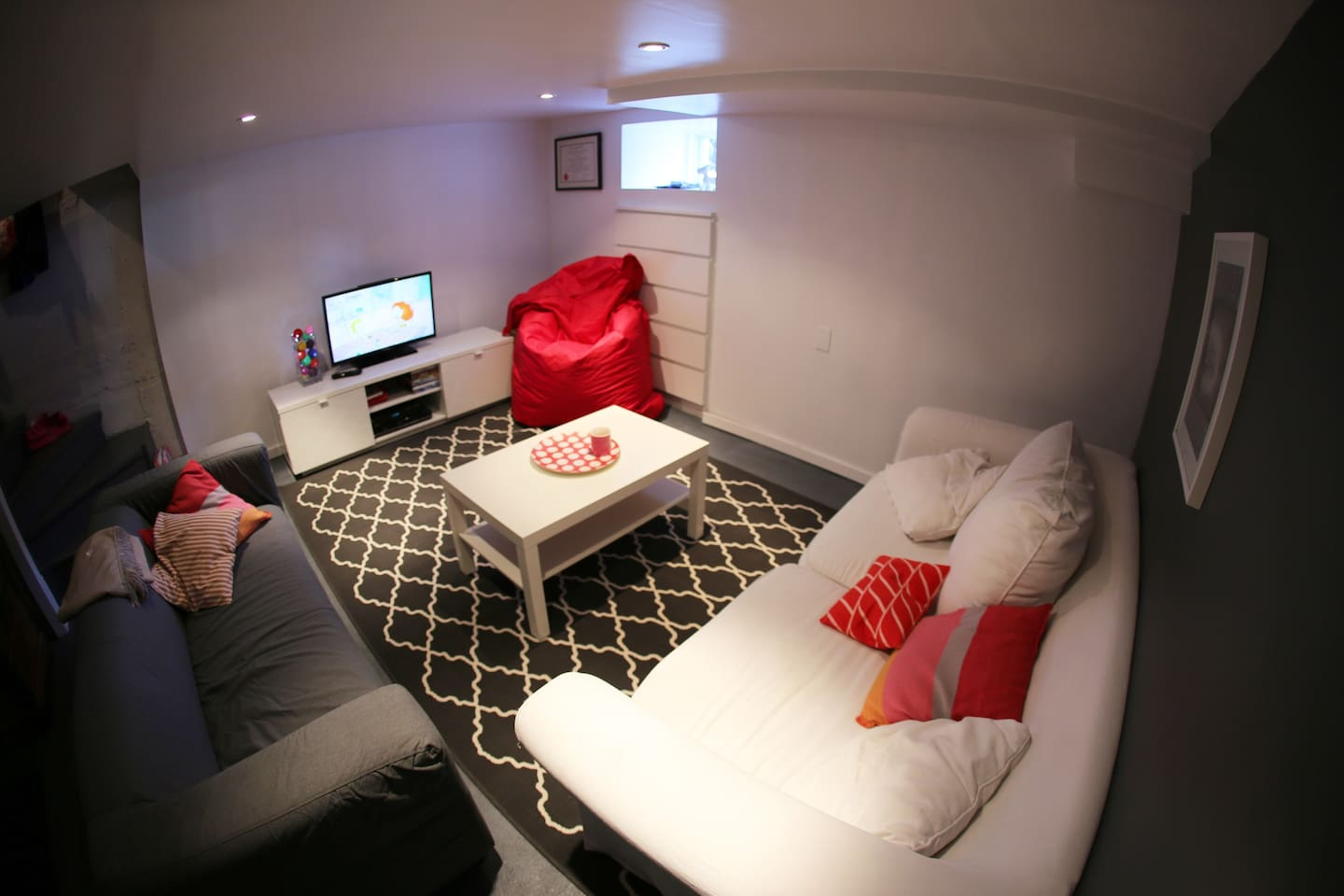 Private living space adjacent to bedroom for 1 person