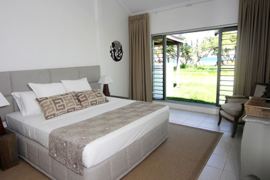 Main Bedroom with beach frontage