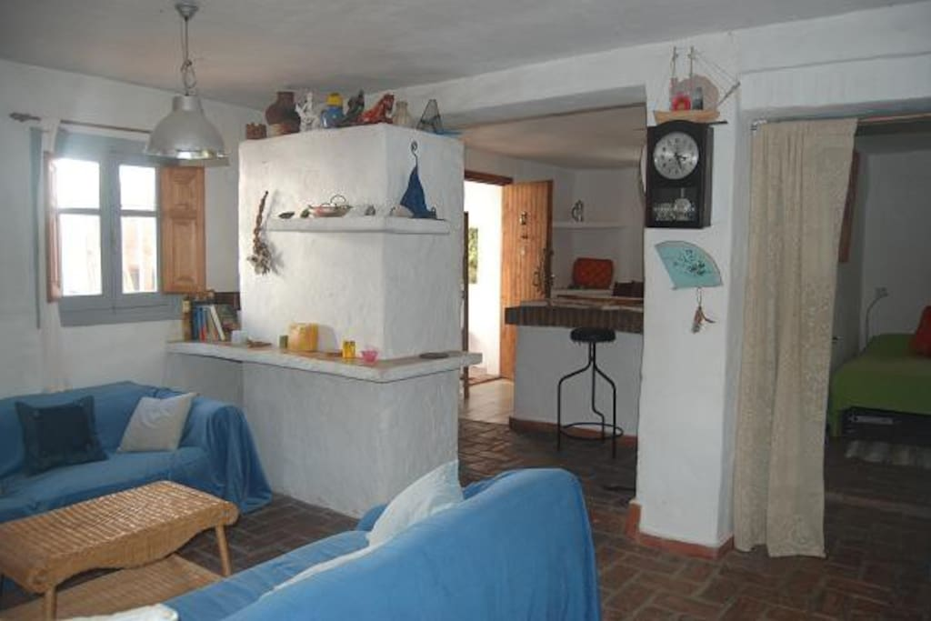 Casa Grande - the living area is interconnected with the kitchen