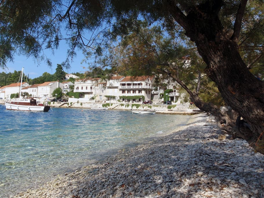 Villa Gorana view from the beach