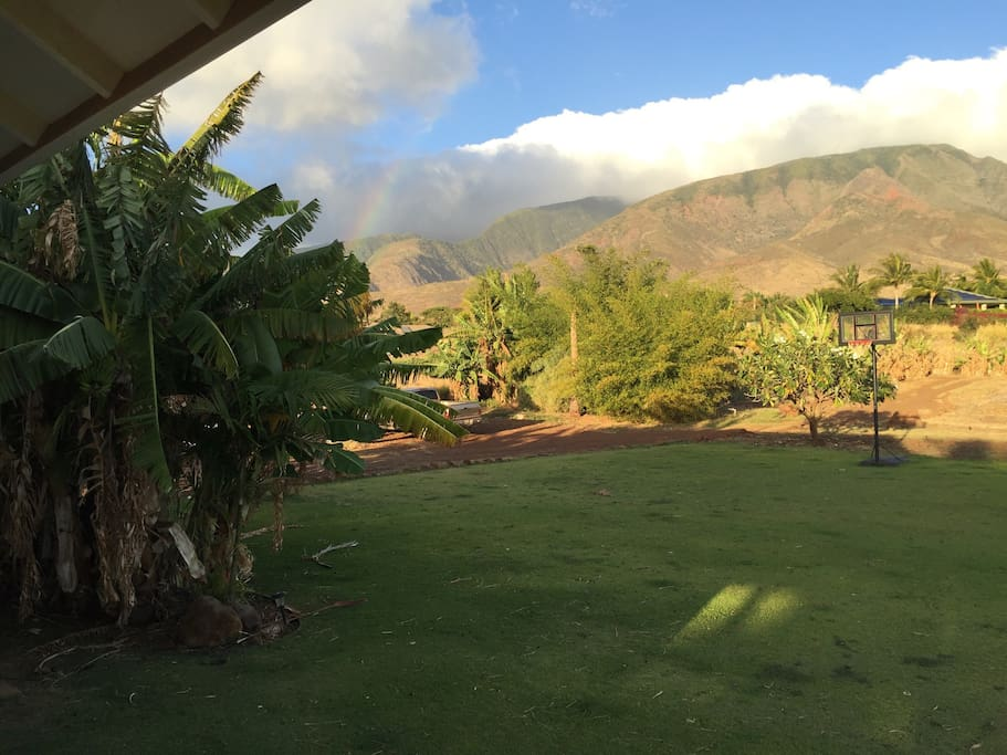 Stunning views of the gorgeous West Maui Mountains.
