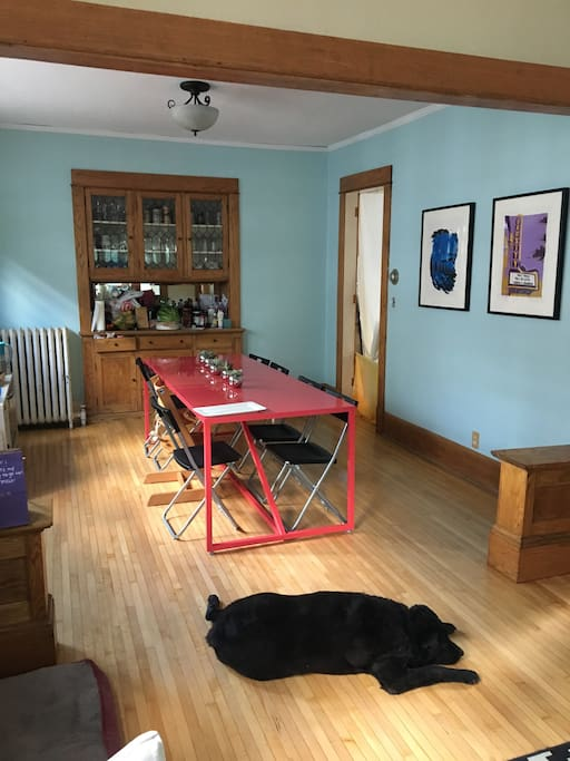 Dining room. Pup not included