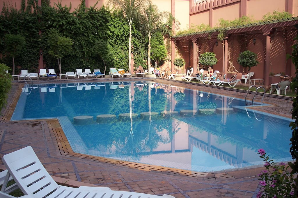 swimming pool in the 4 star hotel a few meters away