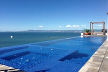 Roof top infinity pool in Amapas 353. Only two floors up from suite! Feel lazy?- Take the elevator!