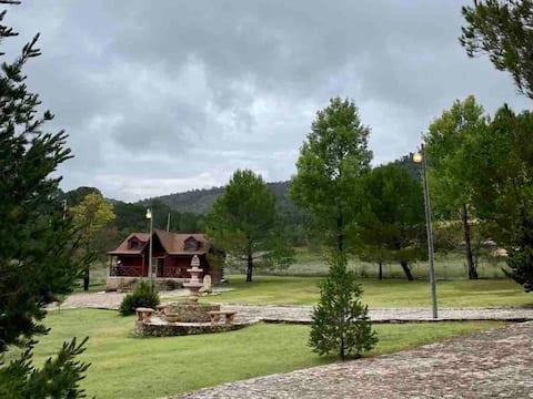 Cabaña con hermosas áreas
