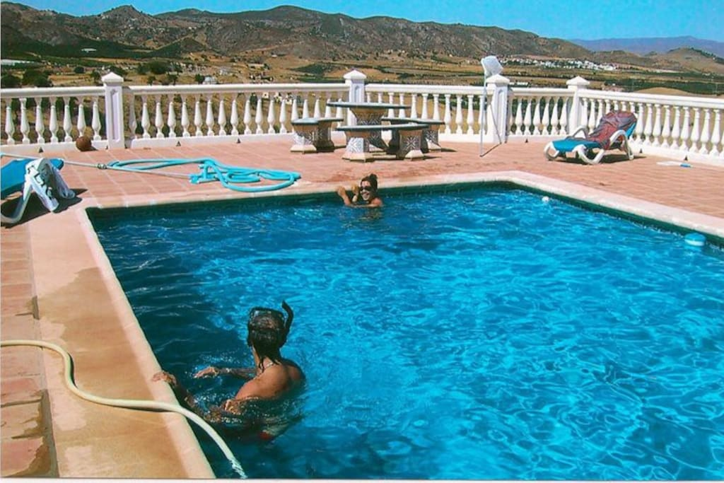 Pool over looking Sierra Mountains