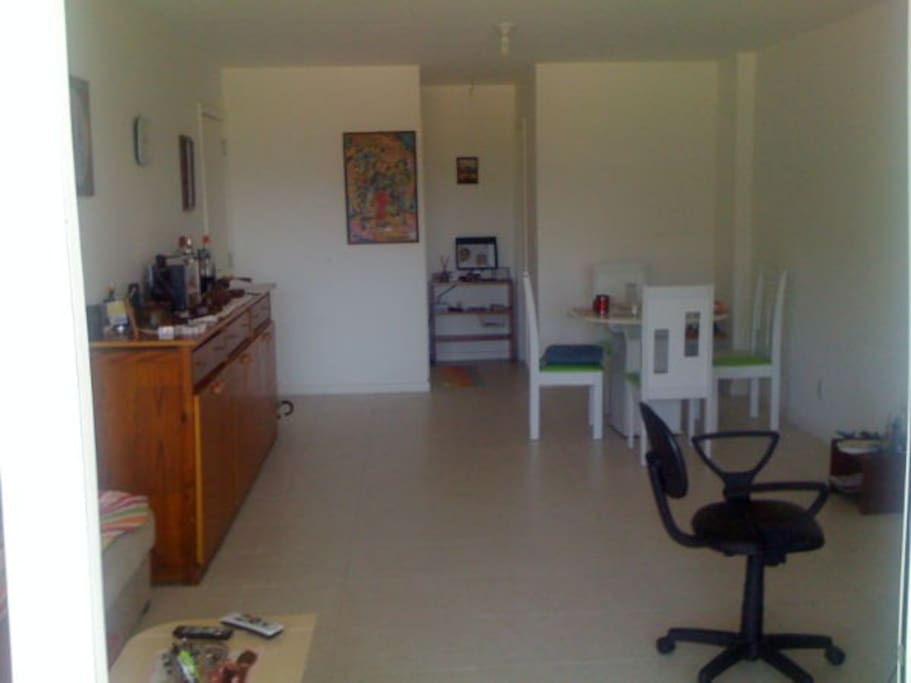 part of living and dining area
