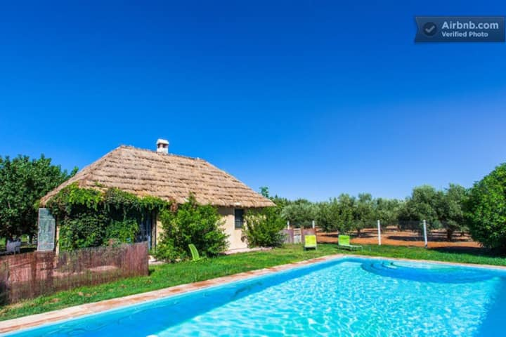 Cottage in garden with pool Cadiz2
