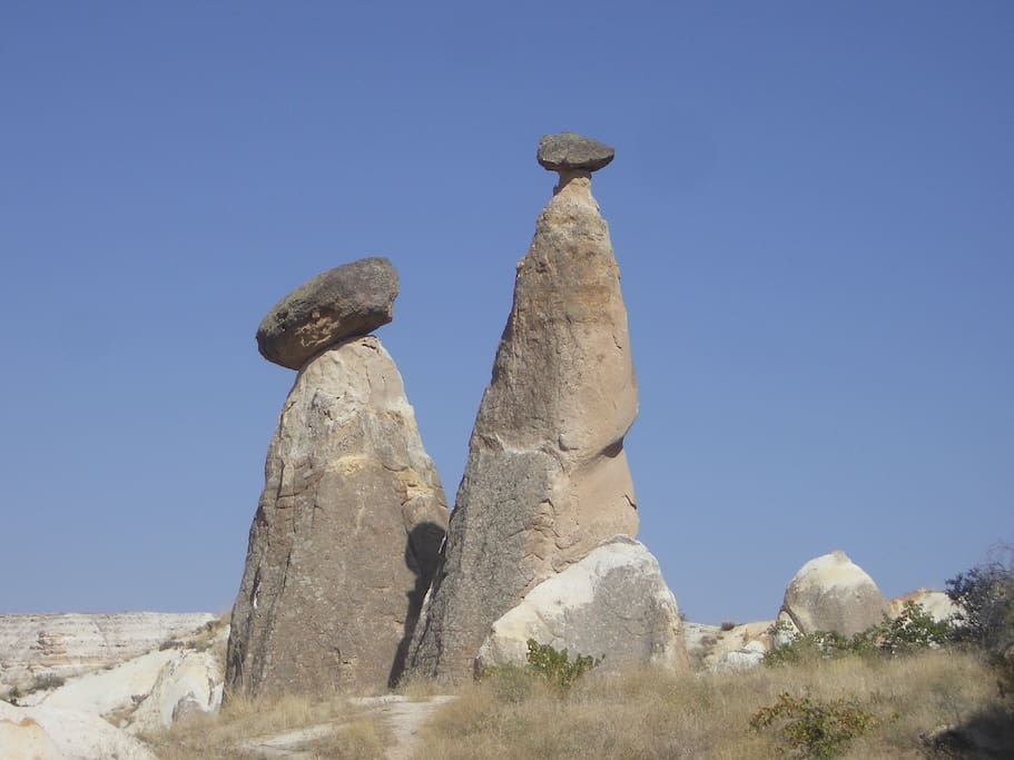 Fairy chimneys. Cappadocia has been the filmset for many famous movies.