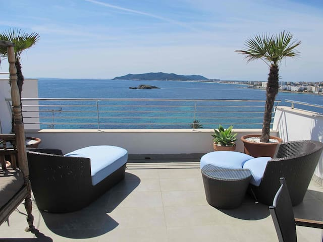Los Molinos with amazing sea view 1 - Ibiza - Casa
