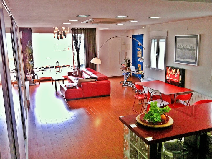 design loft+wifi+sunny terrace