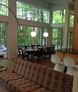 Glass Home On Delaware River Catskills Poconos - Damascus - 獨棟