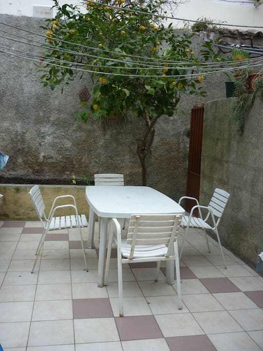 Our terrace with lemon tree, for late night friendship. :-)