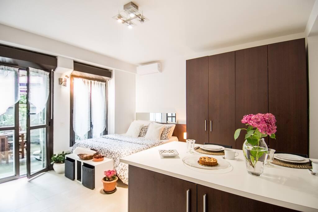 Basement terrace flat turati brera appartamenti in for Brera appartamenti