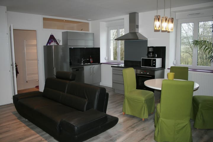 Bel apt. 56 m2 tout équipé, calme, 4 étoiles - Arc-sous-Cicon - Condominium