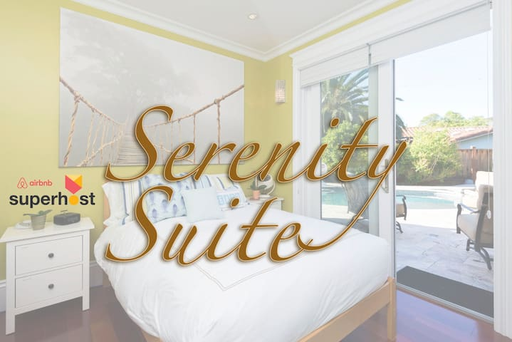 Serenity Suite! Spa-like bathroom w/rain-shower