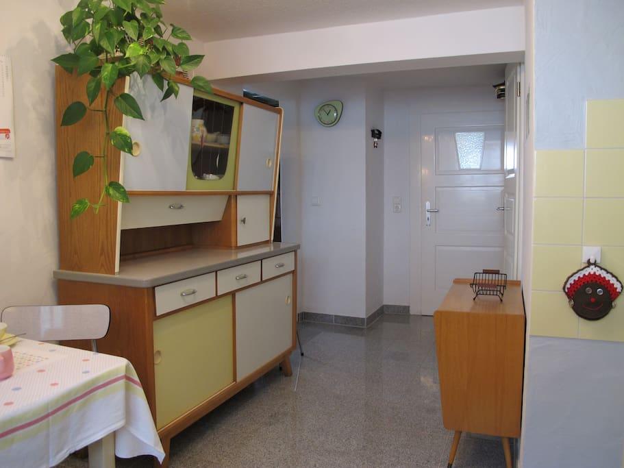 Küche im Stil der 50er Jahre mit modernem Komfort