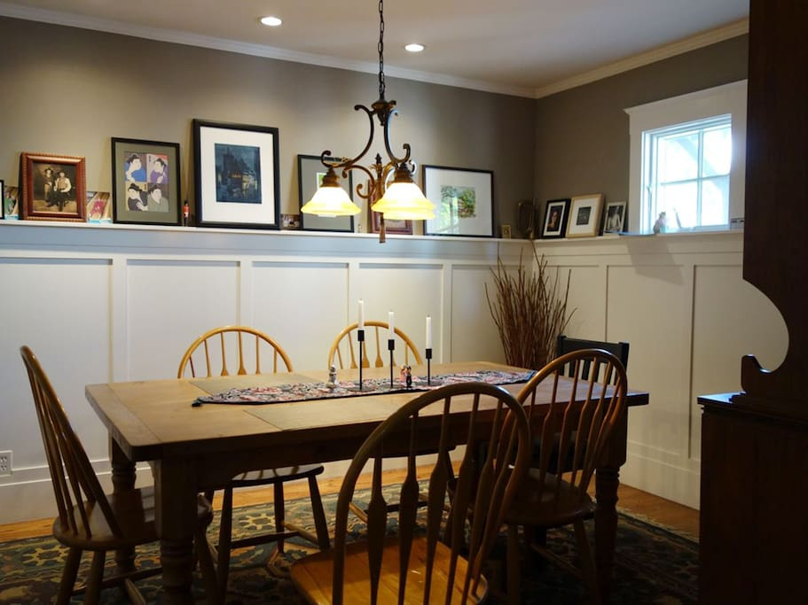 Dining room with seating for 8.