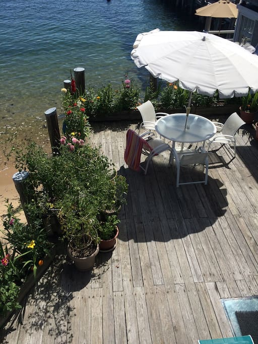 Part of the deck from above