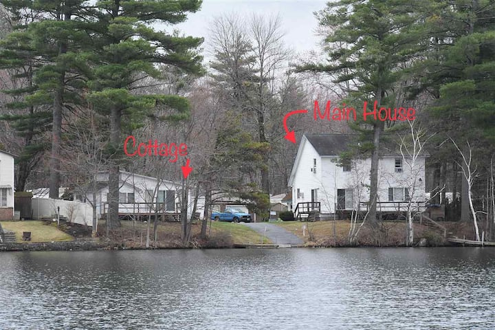 Winnisquam waterfront w/docks & private boat ramp