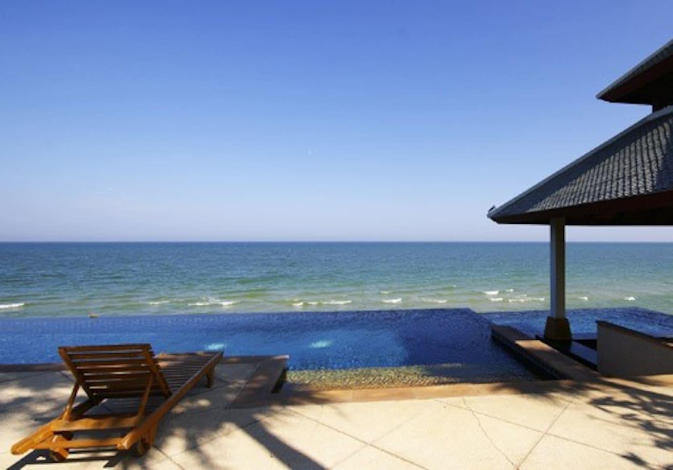 Infinity Pool with Ocean behind