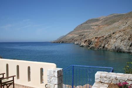 On the beach Suite 4 in Sfakia