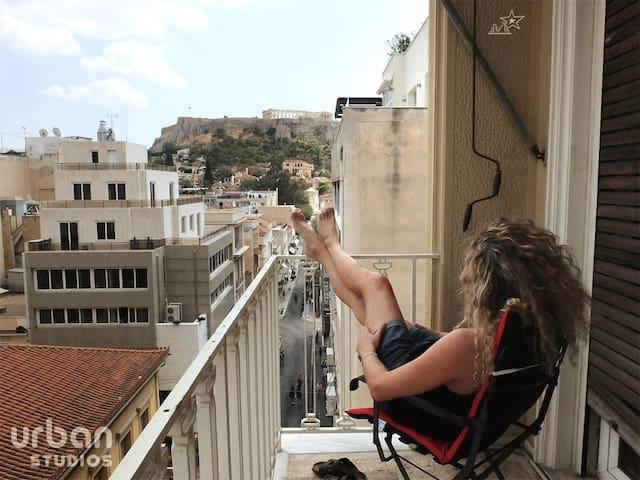 Acropolis View-Ermou & Aiolou studio1@ Monastiraki