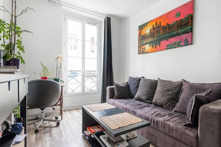 Flat 30m2 (living room & bedroom), Saint Lazare - París - Pis